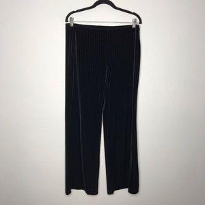 Y2K Express Velvet Pinstripe Wide Leg Yoga Pants